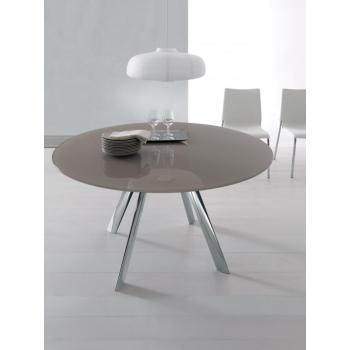 Tavolo rotondo allungabile giro di bontempi un tavolo for Tavolo moderno rotondo