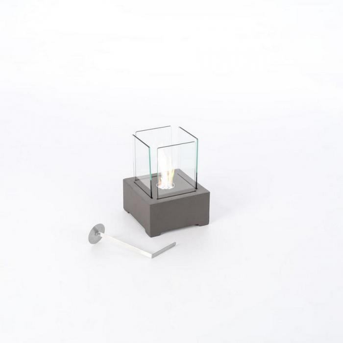 Lanterna Alphaville di Stones a bioetanolo da tavolo