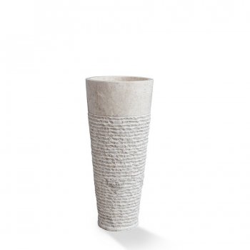 Lavandino Stand Up di Cipì in marmo naturale decorato