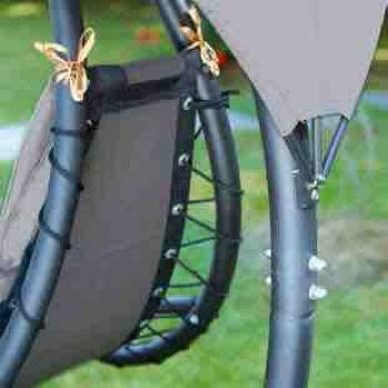 Lettino Foglia di Greenwood con supporto struttura in metallo