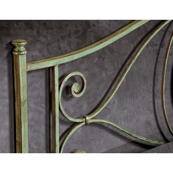 Letto matrimoniale Margherita in ferro battuto prodotto artigianalmente