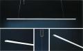 Linear Sospeso per soffitto di Cipì per interni in acciaio