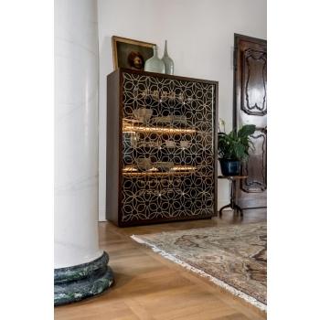 Madia della linea Granada di Tonin Casa elegante in legno e cristallo