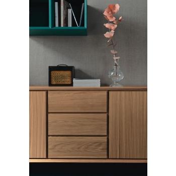 Madia in legno Nook di Altacorte 3 ante e 3 cassetti
