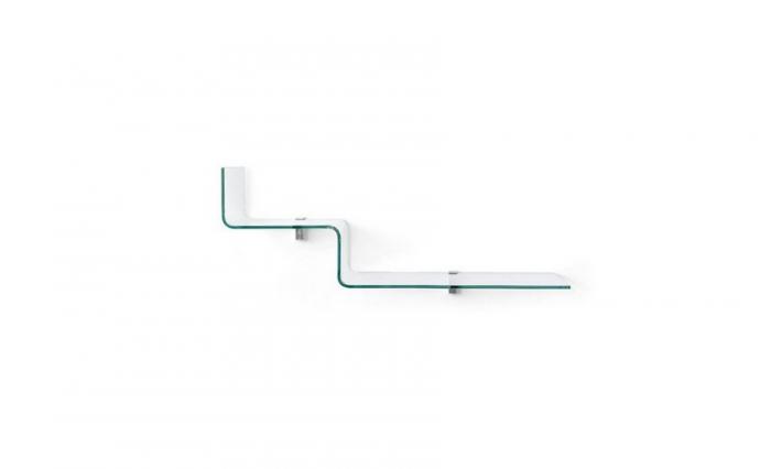 Mensola Step di Connubia in vetro portaoggetti