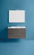 Mobile da bagno Dado di Kios in effetto legno elegante e moderno