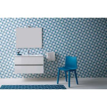 Mobile da bagno Tris di Kios in effetto legno elegante e moderno