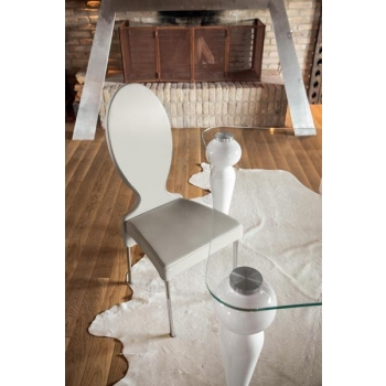 Offerta set di 2 sedie Vivienne di Tonin casa in ecopelle nocciola