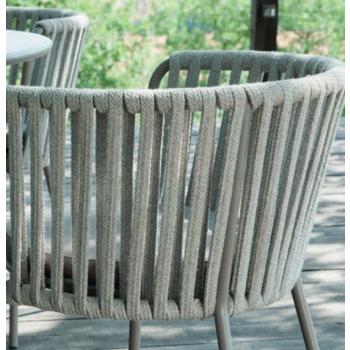 Poltrona Desiree Rope di Vermobil in ferro da giardino