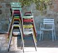 Poltrona impilabile Step di Vermobil da giardino in ferro