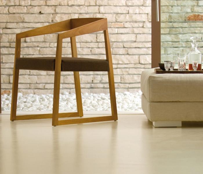 Poltrona Sign 455 di Pedrali con sedile in tessuto, pelle ecopelle