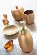 Set da Bagno Gold di Cipì in resina e foglia oro