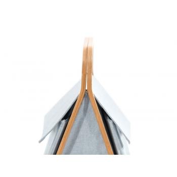 Portabiancheria Apri-Chiudi Laundy Double di Cipì in tessuto e bamboo listellare