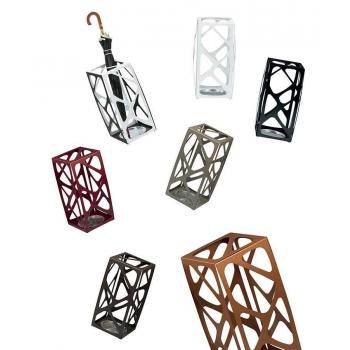 Portaombrelli Basket di Pezzani in acciaio verniciato colorato