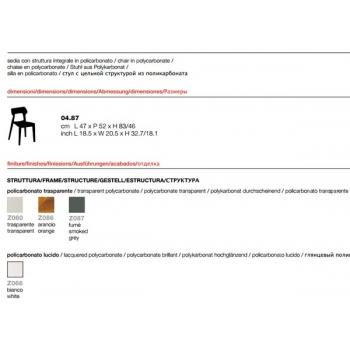 Sedia Aria in policarbonato di Bontempi
