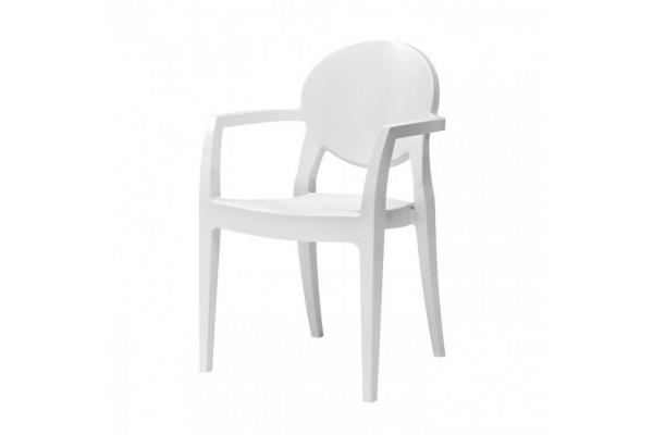 Sedia impilabile con braccioli igloo di scab design in policarbonato