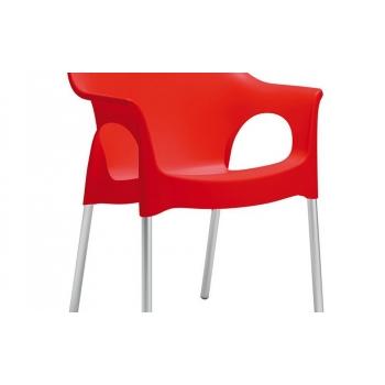 Sedia con braccioli Ola in polipropilene ingnifugo di Scab Design