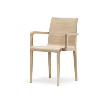 Sedia con braccioli Young 425 di Pedrali in legno