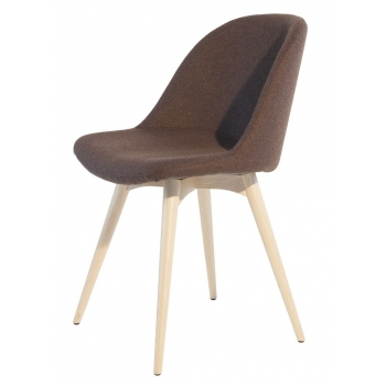 Sedia con gambe in legno Sonny S-LG di Midj