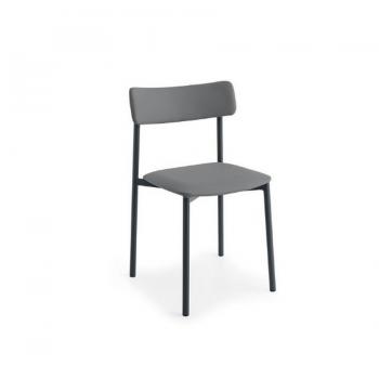 Sedia con gambe in metallo UP! di Connubia Calligaris