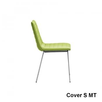 Sedia Cover di Midj in tessuto, ecopelle o vera pella
