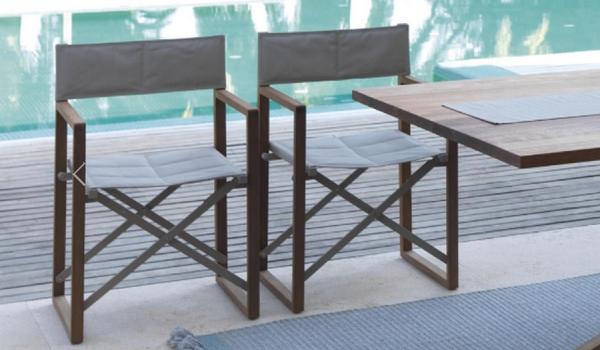 Sedia da regista bridge di talenti in legno per esterno