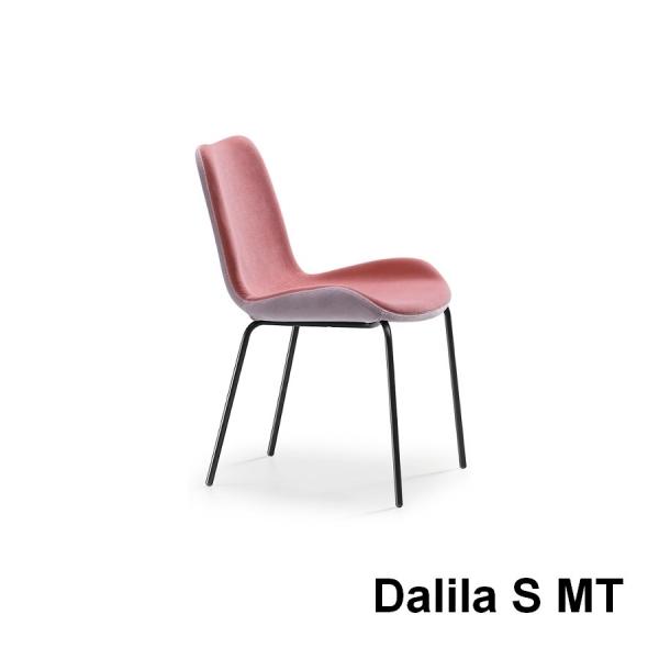 Sedia Dalia di Midj senza braccioli imbottita e rivestita