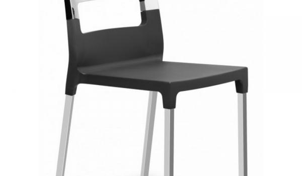 Sedia diva star in tecnopolimero con fibra di vetro e gambe