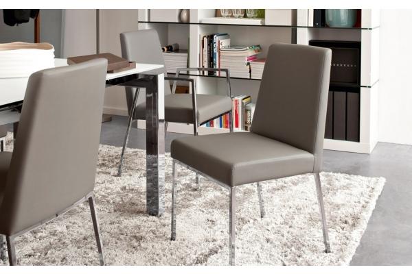 Sedia Imbottita Design : Sedia imbottita amsterdam di connubia con struttura in metallo linee