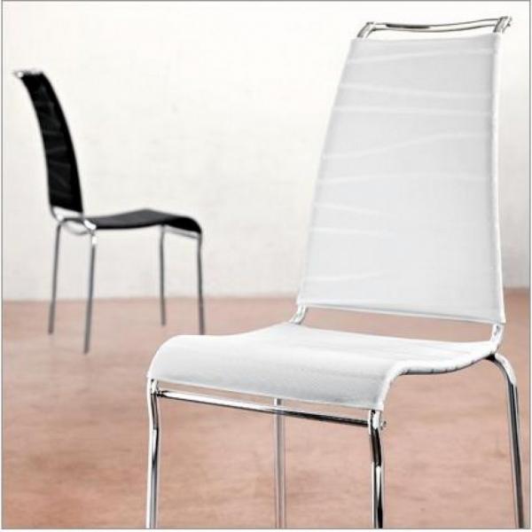 Sedia impilabile con struttura in metallo Air di Connubia ...