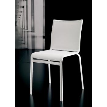 Sedia impilabile Net di Bontempi con seduta in texplast e struttura in acciaio04