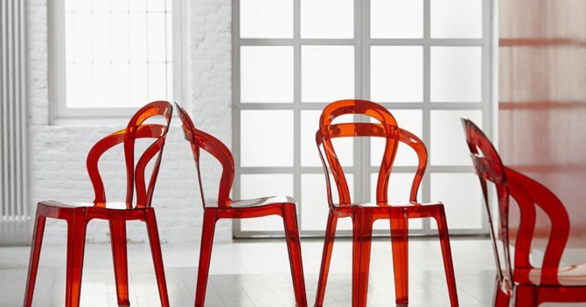 sedia Titì di Scab Design impilabile in plastica in offerta nel colore Rosso