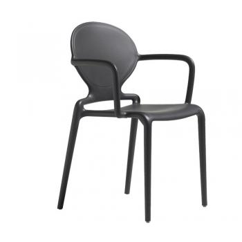 Sedia in tecnopolimero impilabile Gio con braccioli di Scab Design