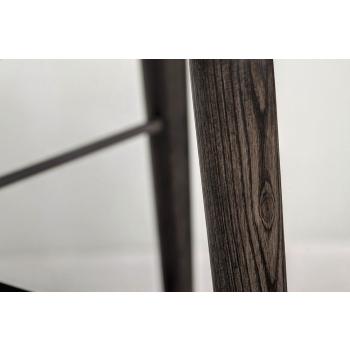 Sedia Kate Bontempi con seduta e gambe in legno e struttura in acciaio