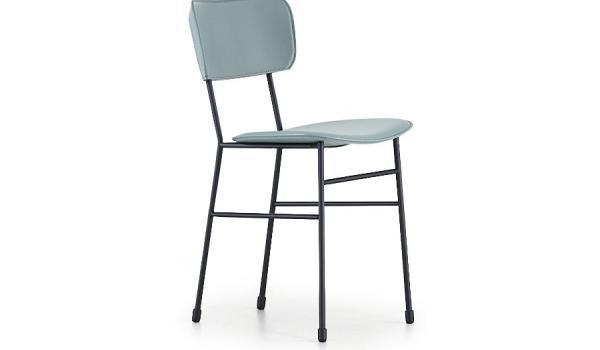 Sedia master di midj a quattro gambe in acciaio