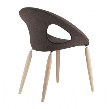Sedia Natural Drop Pop con gambe in legno di Scab Design