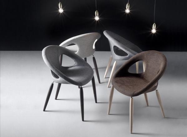 Sedia Imbottita Design : Sedia imbottita e rivestita natural drop pop di scab design con