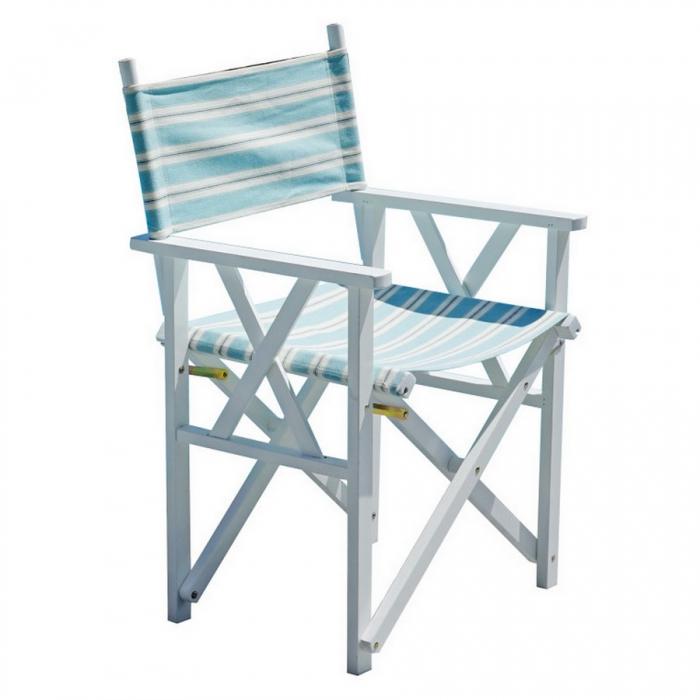 Sedie In Legno Laccate Bianco.Sedia Regista Legno Bianco Di Greenwood