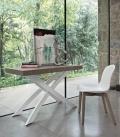 Sedia Seventy di Bontempi imbottita struttura in legno o in acciaio