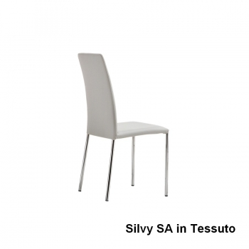 Sedia Silvy di Midj impilabile da ufficio