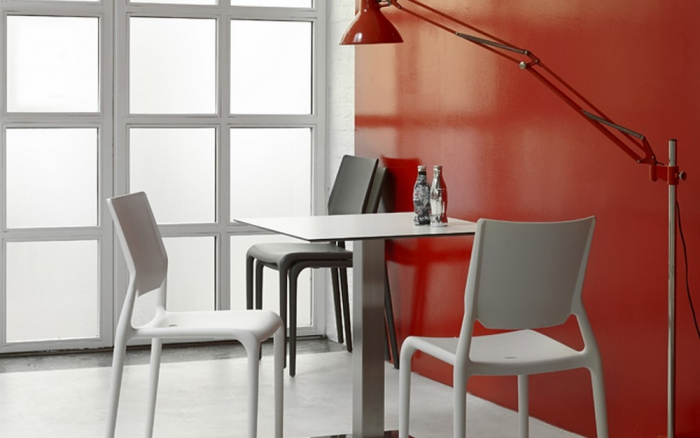 Sedia Sirio di Scab Design impilabile in tecnopolimer