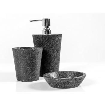 Set da bagno Lava di Cipì in pietra lavica naturale trattata