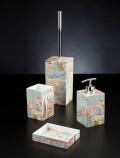 Set da bagno Map di Cipì in in resina con mappa città americane