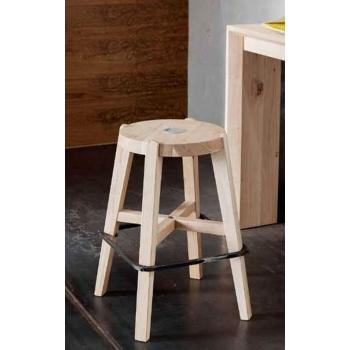 Sgabello Small di Altacorte in legno rovere o in noce