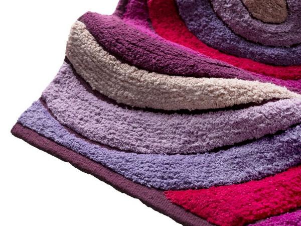 Tappeto drops di cipì in cotone con tessitura in rilievo da