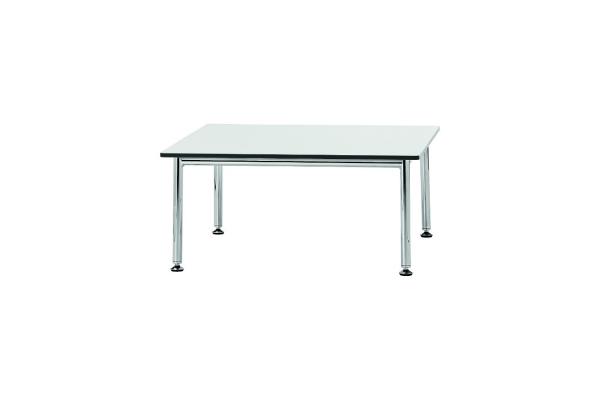 Tavolino Billy 3 HPL con struttura cromata e piano laminato