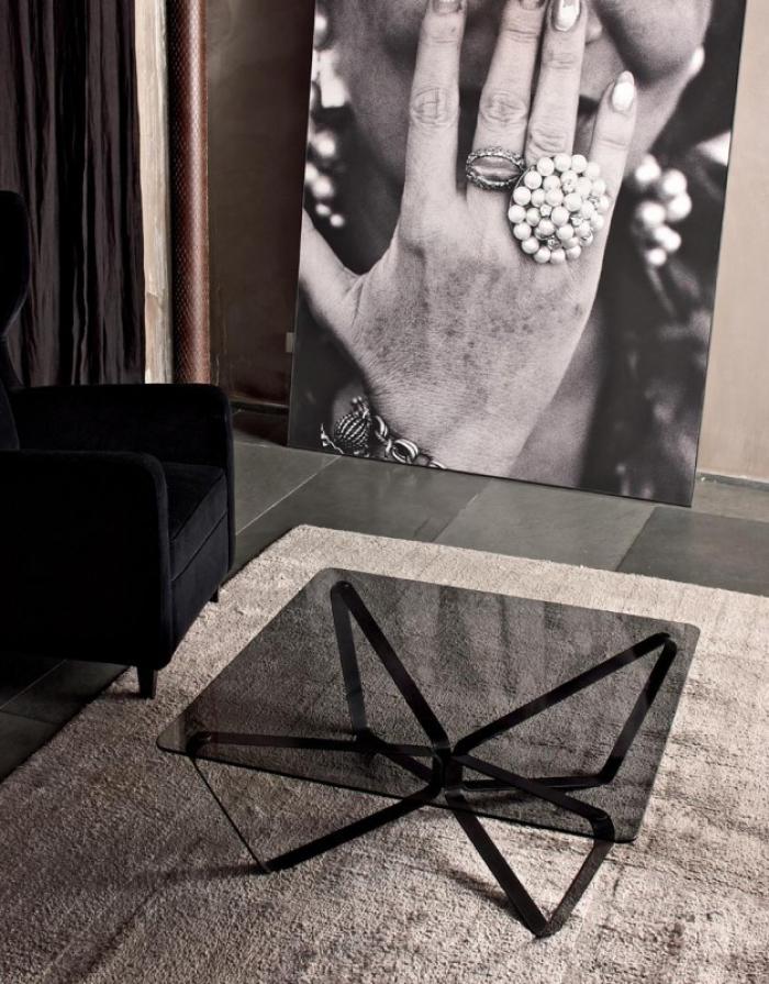 Tavolini Da Salotto Moderni Bontempi.Tavolino Da Salotto Loop Di Bontempi Casa Con Piano In Cristallo