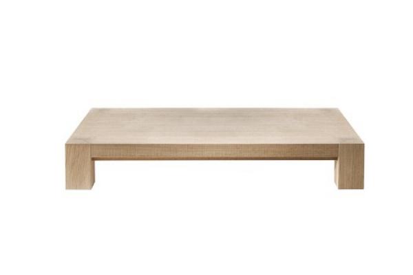 Tavolino da soggiorno rettangolare in legno