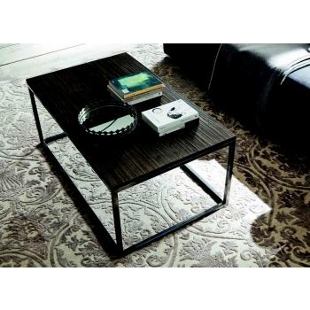 Tavolino di Altacorte con piano in legno di rovere e struttura in ferro industry