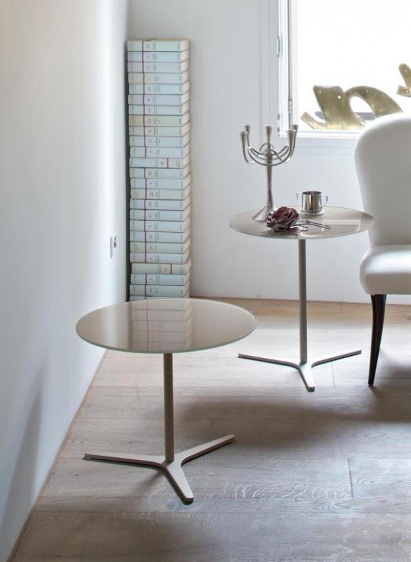 Tavolini Da Salotto Moderni Bontempi.Tavolino Da Salotto Elica Di Bontempi Con Struttura In Acciaio